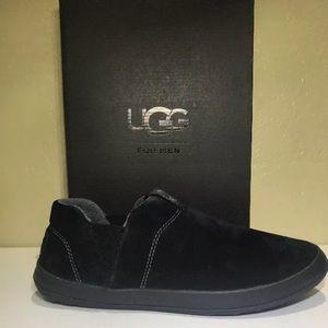 2230f396c9e UGG Mens Hanz Slippers Black Style 1017266 New NWT